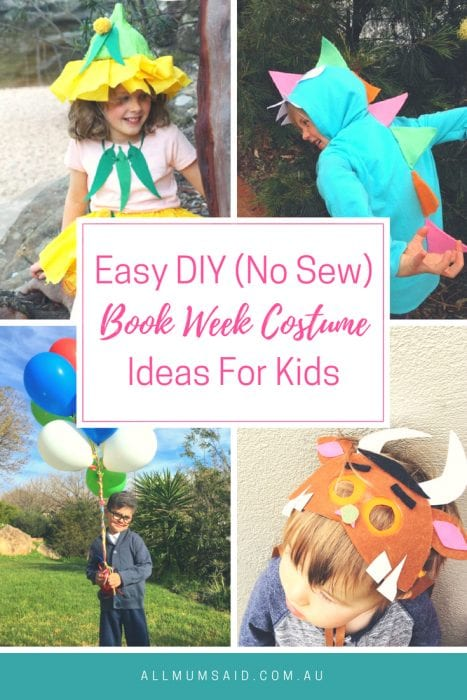 All Mum Said - Easy Book Week costume ideas for kids #DIY #NoSew