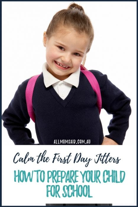 Those first day jitters can be tough for kids and parents. Here are some great ways you can prepare your child for school. #parenting #kids #education #kindergarten #preschool
