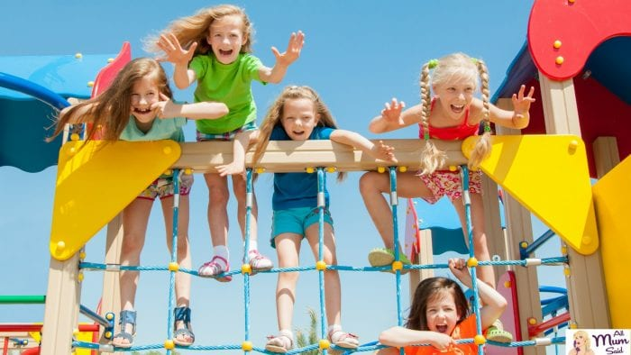 children playing at playground - how to Choose a childcare centre
