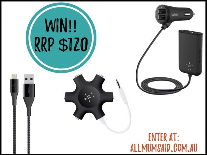 Belkin Road Rockstar (4-port car charger) giveaway