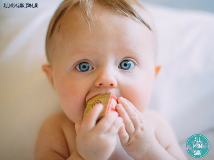 baby chewing block teething remedies