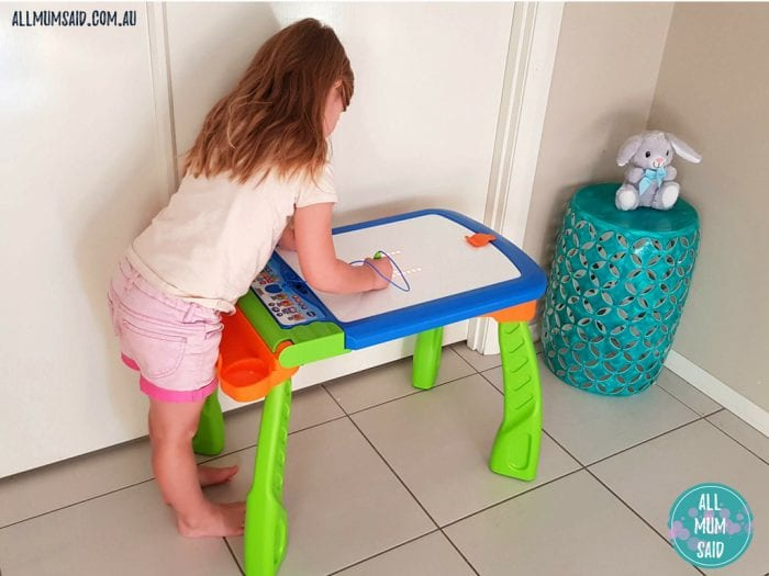 VTech creativity easel in table mode