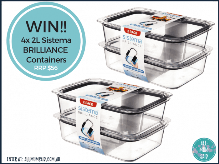 Sistema Brilliance containers giveaway