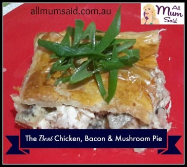 chicken and mushroom pie recipe | budget cooking