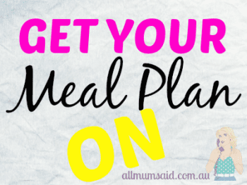 Meal Plan Week 39 – 2014