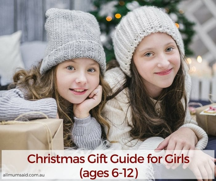 Christmas Gift Guide for Girls (ages 6-12)