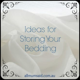 Ideas for Storing Your Bedding