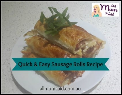 easy sausage rolls recipe