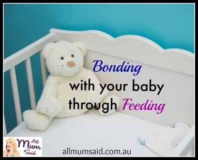 bonding with your baby through feeding