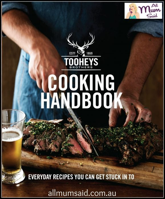 Father's Day giveaway 2015 | Tooheys Cook book | All Mum Said