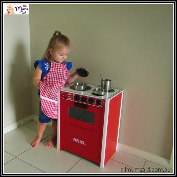 Brio red stove cooking