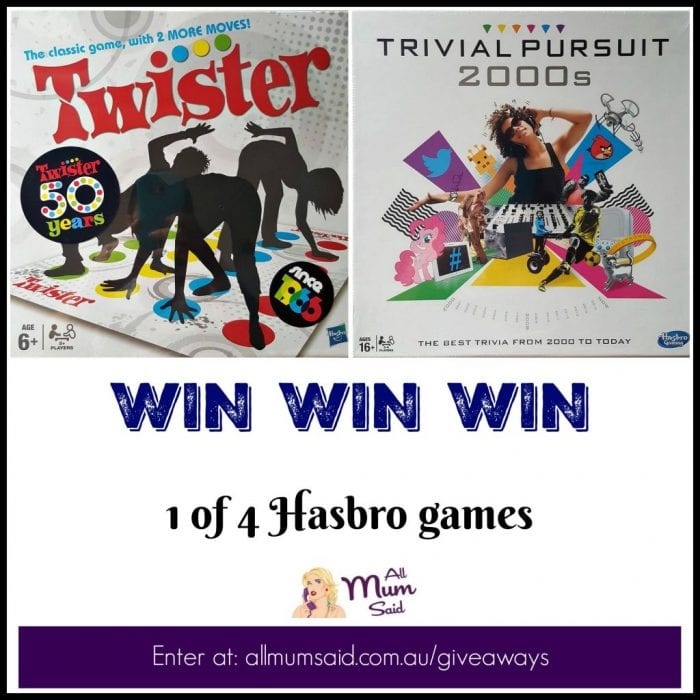 Hasbro board games giveaway | Twister and Trivial Pursuit