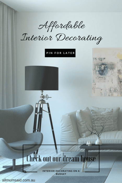 PIN this post affordable interior decorating pinterest