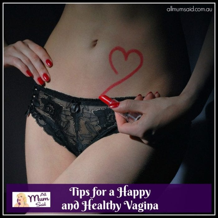healthy vagina with lingerie and lipstick
