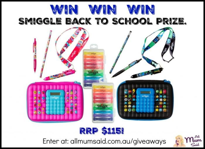 Smiggle Giveaway back to school smiggle backpack