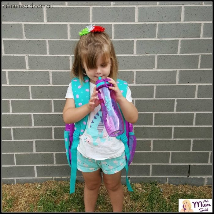 back to school smiggle backpack smiggle preschool girl with water bottle