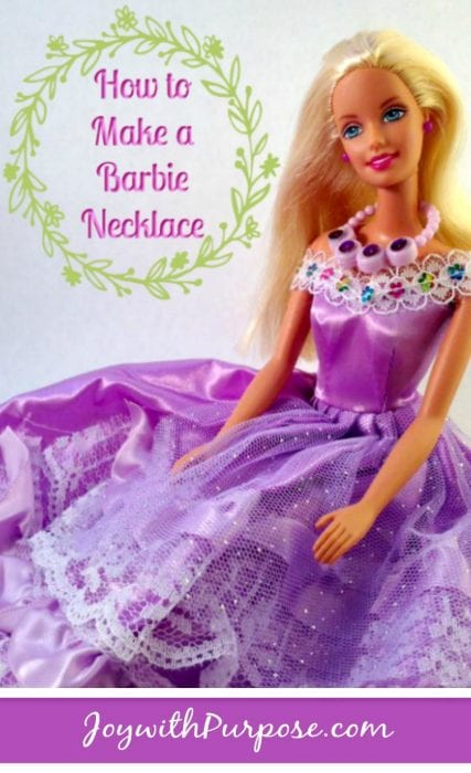 Barbie wearing DIY necklace | how to make Barbie necklace