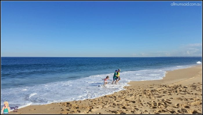 Mother's Day expectations | Kids playing at Stockton Beach