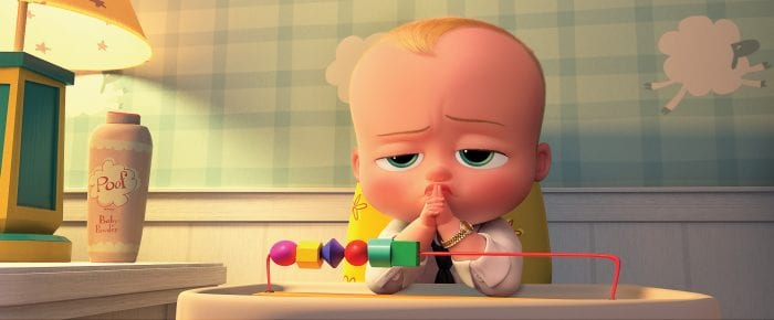 The Boss Baby playing with abicus