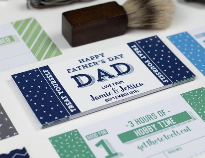 personalised father's day vouchers