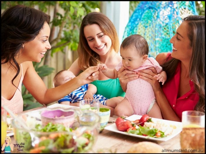 Mother's group eating lunch | FREE parenting resources