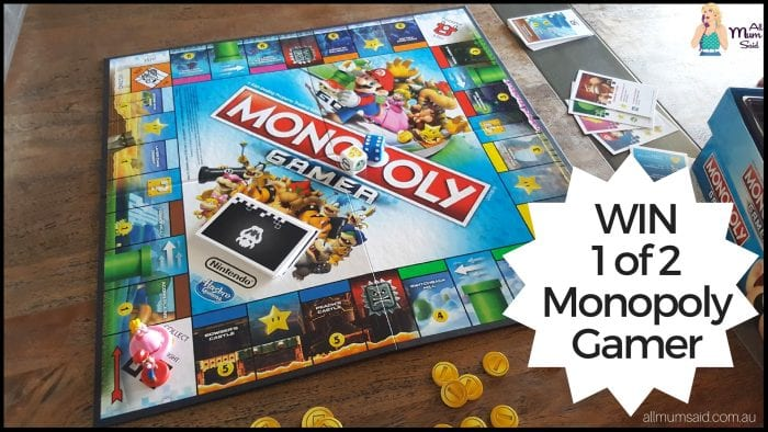 All Mum Said - monopoly gamer edition giveaway