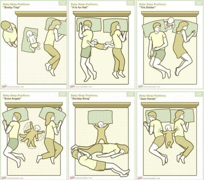 Baby sleep positions - How to be a dad