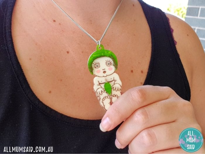 May Gibbs gumnut baby necklace