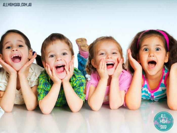 kids laying down laughing | child safety