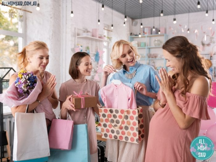 mums at a baby shower | Planning a baby shower