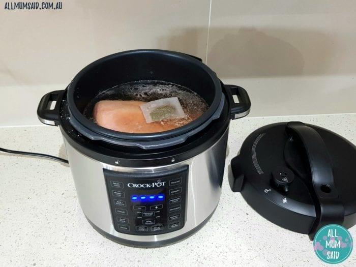 Cooking silverside in Crock Pot express crock multi-cooker