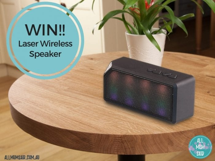 Laser wireless speaker giveaway