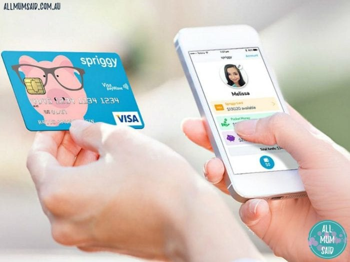 Spriggy with card and app