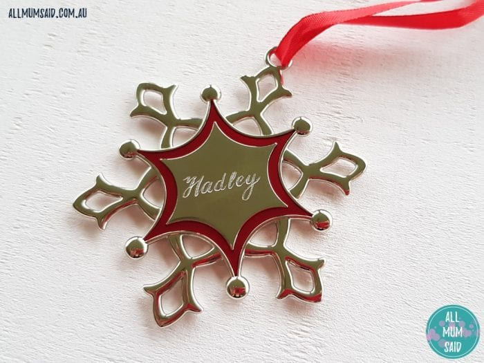 Christmas Giveaway - Oh My Giddy Aunt snowflake ornament