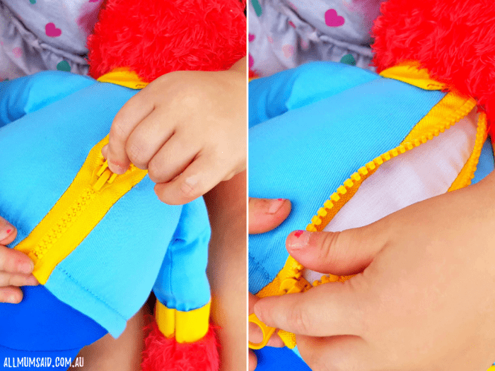 Ready for School Elmo review - zipper