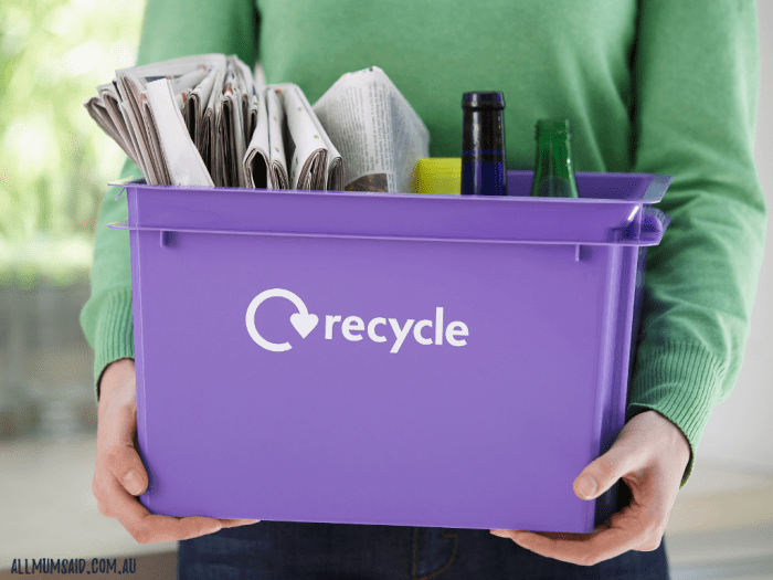 paper and plastic bottles to be recycled