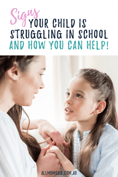 Think your child might be struggling in school? Here's how YOU can help! #parenting #education #teaching #mumlife #momlife #kids #teenagers #mentalhealth #behaviour