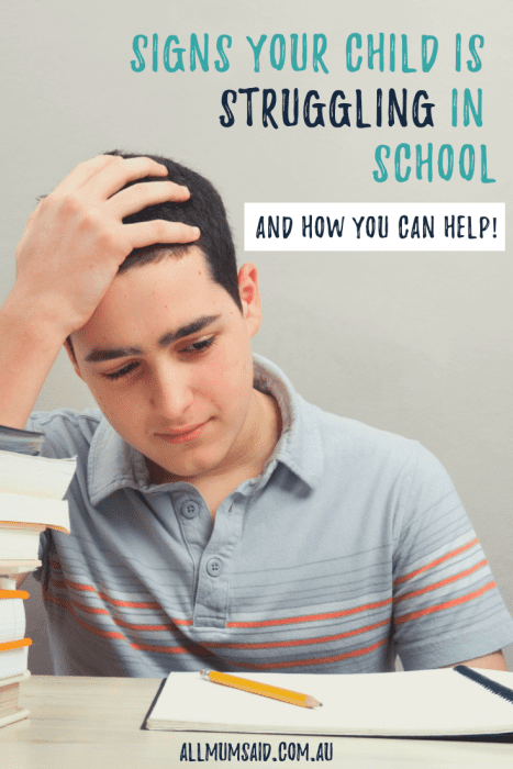 Suspicious that your child is struggling in #school? Take action today by taking these necessary steps. #parenting #education #teaching #mumlife #momlife #kids #teenagers #mentalhealth