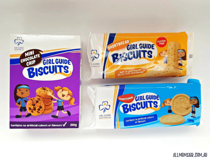 Girl Guide biscuits different flavours