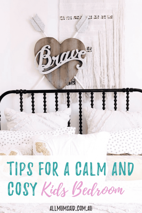 Want to create a calm and cosy kids bedroom but don't know where to start_ CLICK HERE and put these tips into action! #kids #bedroom #interiordesign #sleep #behaviour