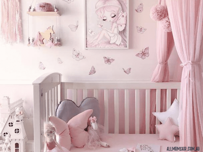 toddler bedroom with Australian wall art for kids