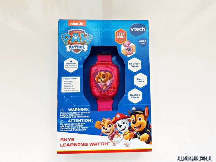 Paw Patrol Learning Watch in box