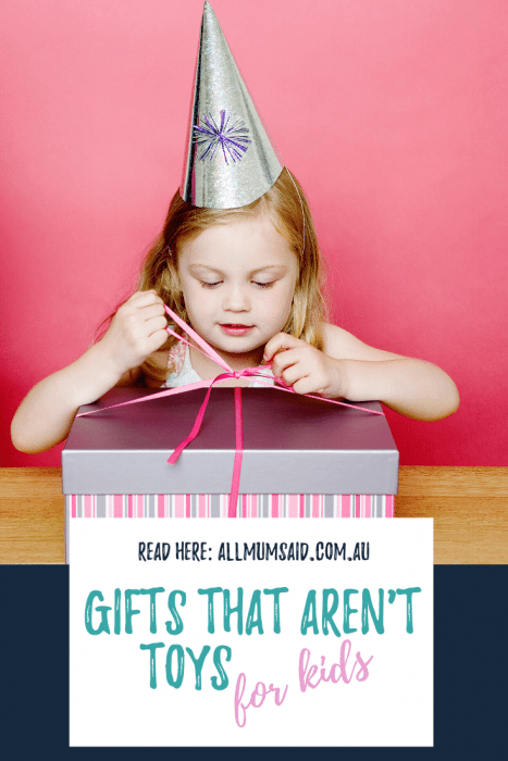 SPOILER ALERT: This isn't a list of the best toys available. This is some great gift alternatives that aren't toys for kids - #gifts #kids #parenting #reusable #nontoygiftideas #christmasgifts #giftideasforgirls #giftideasforboys #giftideas #toyminimalism #raisingkids #positiveparenting #raisinghappykids
