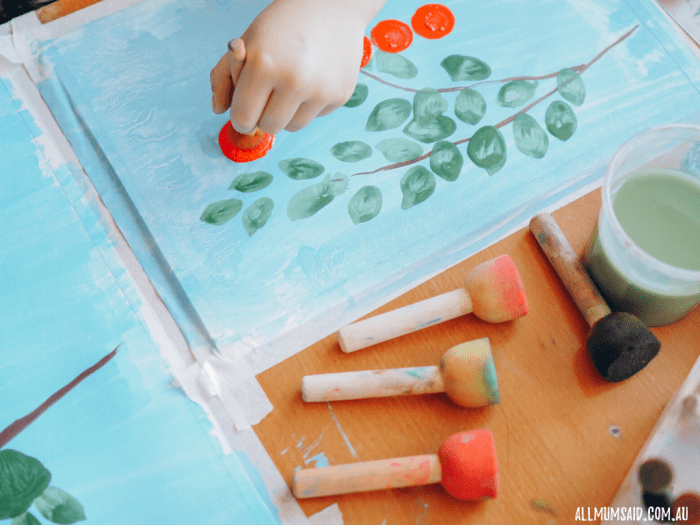 educational things to do with kids at home - painting