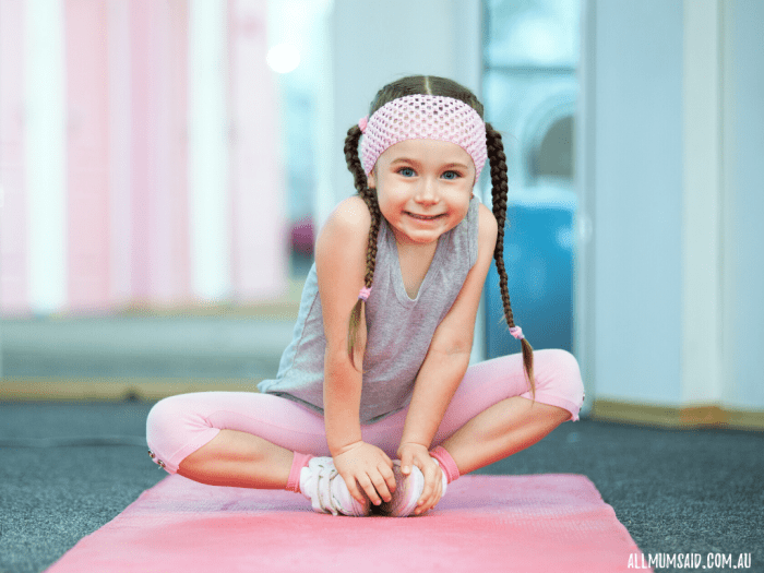 fitness at home - yoga for kids